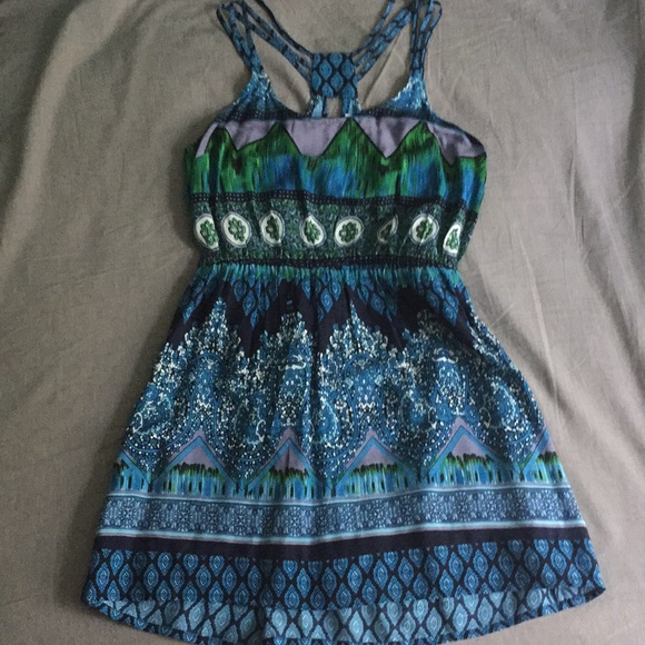 Patrons of Peace Dresses & Skirts - Strappy Boho Skater dress NWOT Tilly's